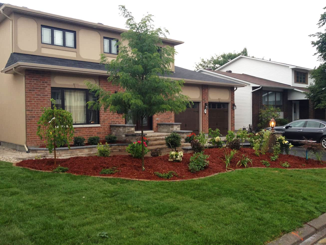 front yard softscaping garden design