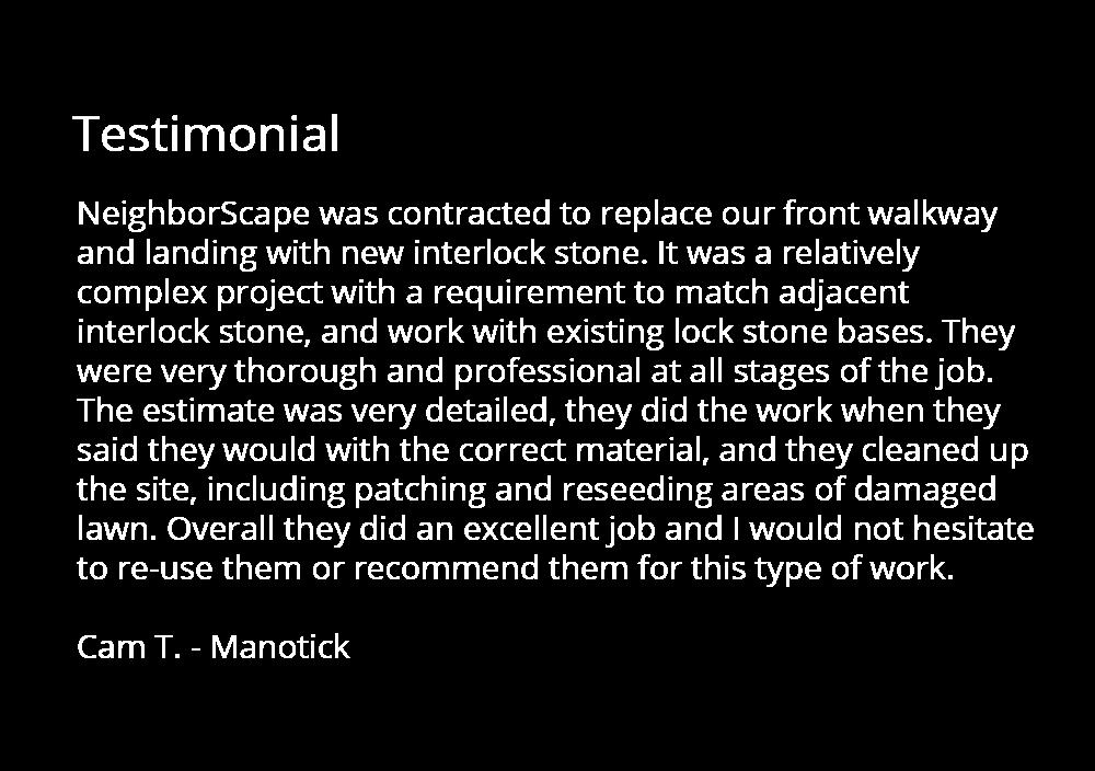 interlock walkway testimonial