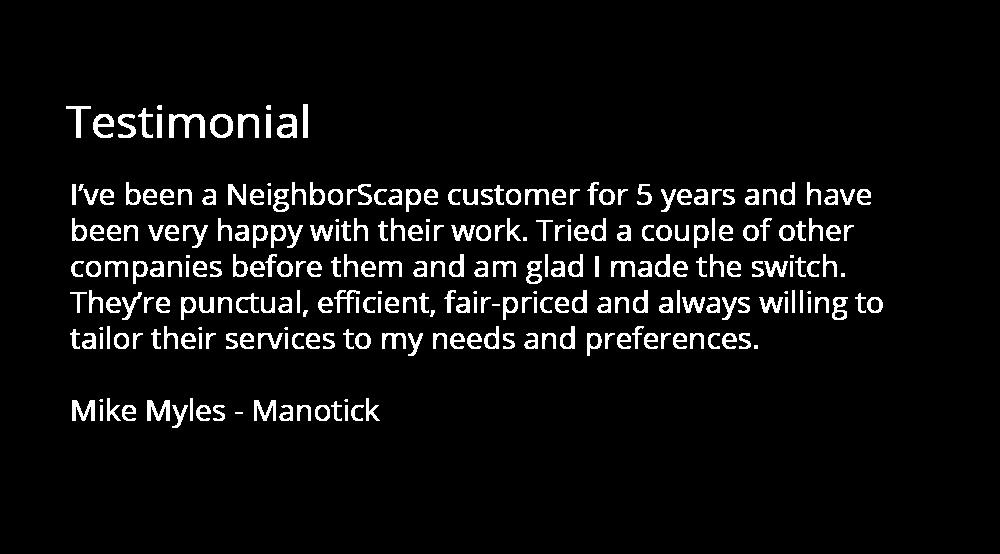 manotick testimonial