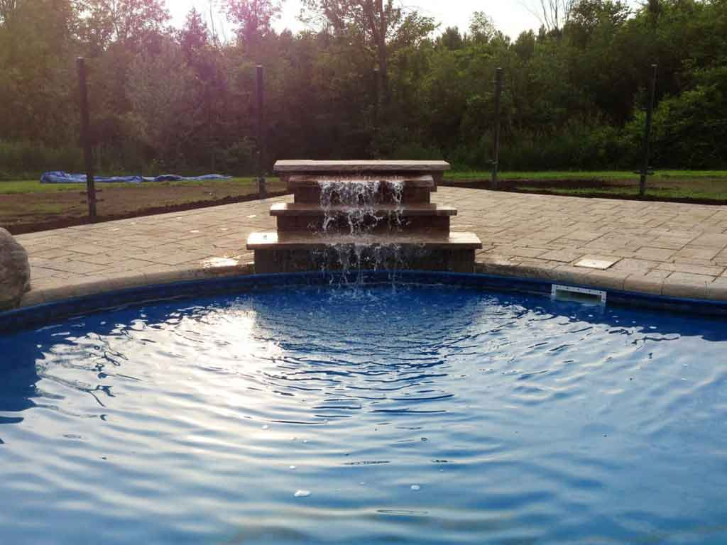 interlock water feature