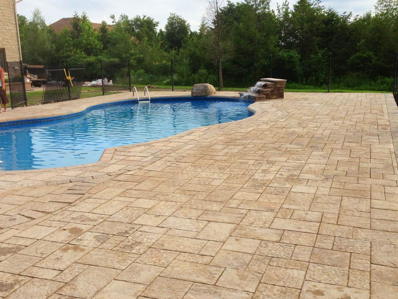 Outdoor Pool with Interlock Deck