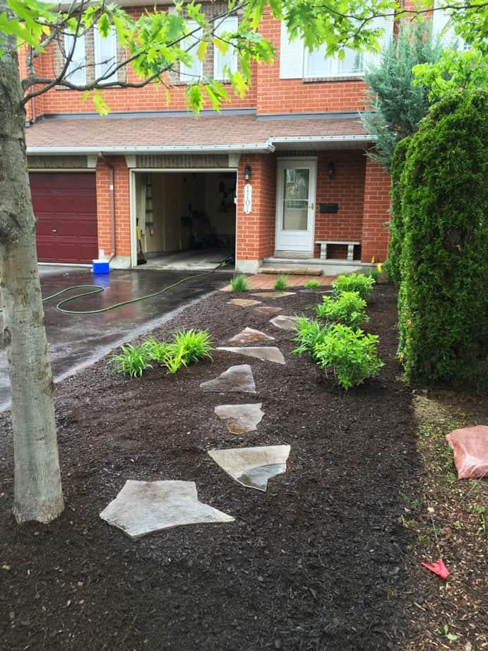 stepping stone garden design
