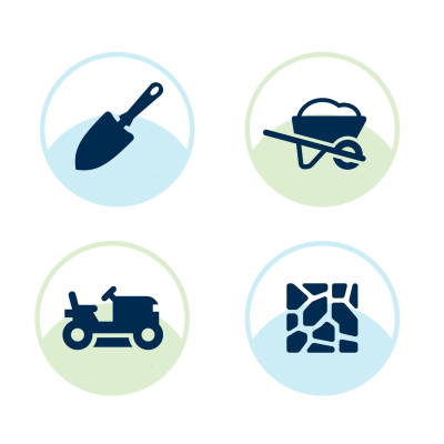 landscaping services icons
