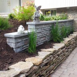 interlock stone garden walls