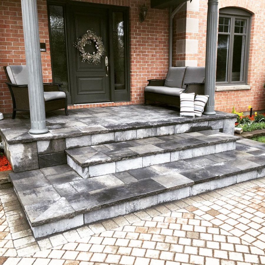 stone front porch