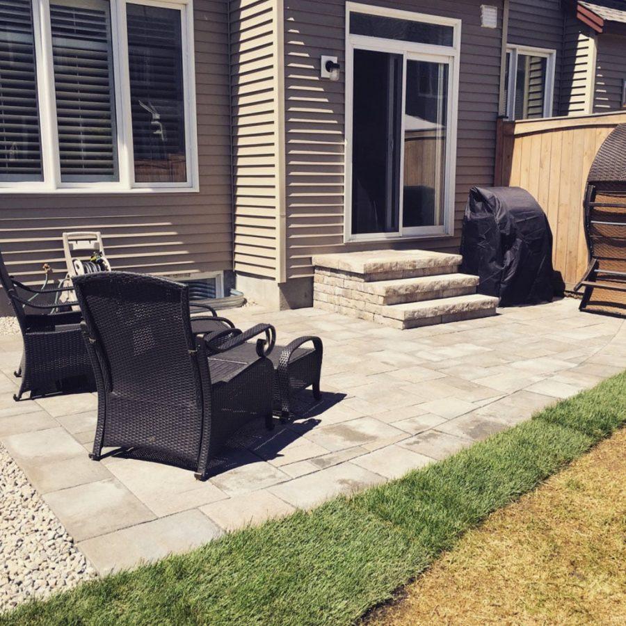 interlock stone patio
